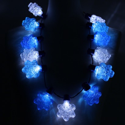 wholesale light up snowflake party necklace. Black Bedroom Furniture Sets. Home Design Ideas