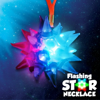 Flashing Star Necklaces Wholesale Light Up Jewellery