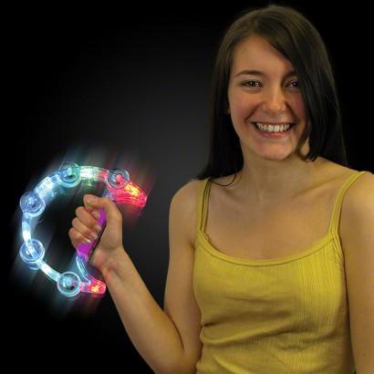 Flashing Tambourine Light Up Novelties Glowsticks Co Uk