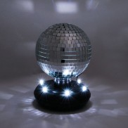 Mirror Ball on LED Base