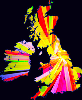 Glow Sticks UK Map
