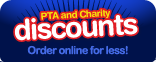 PTA and Charity Discounts - Order on-line for less!