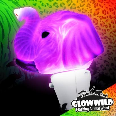 """Elephant Mini Flashing Animal Wand 7"""" Wholesale"""