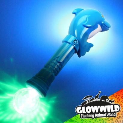 "Dolphin Mega Light Up Animal Wand 11"""