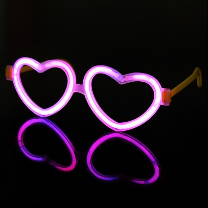 Wholesale Glow Heart Eyeglasses