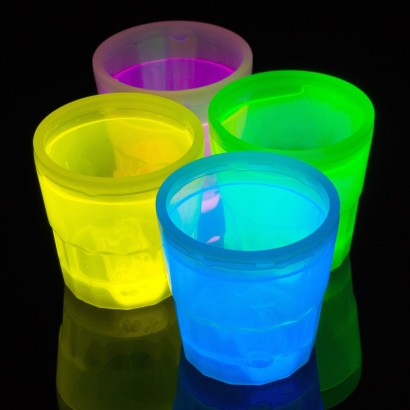 glow shot glasses uv barware glowsticks co uk