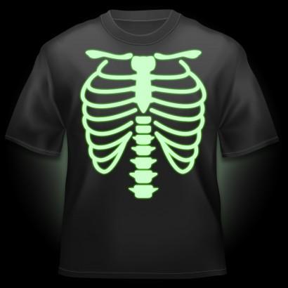 glow tshirt skeleton glow amp flash tshirts