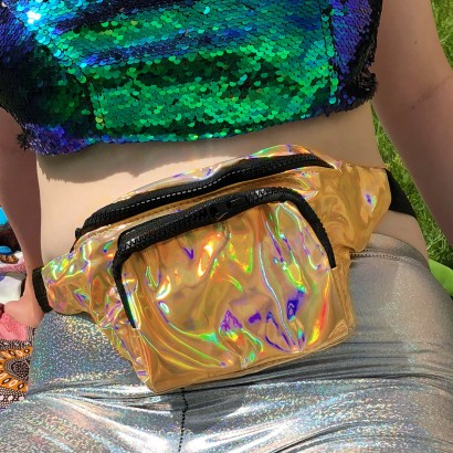 Gold Holographic Bum Bag