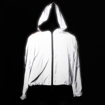 Reflective Hooded Bomber Jacket