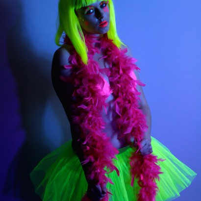 UV Feather Boa Pink