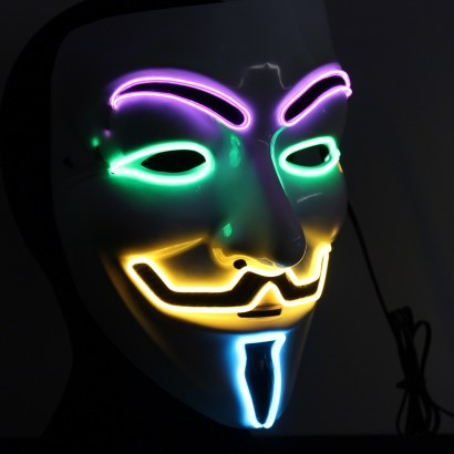 Light Up Guy Fawkes Vendetta Party Mask