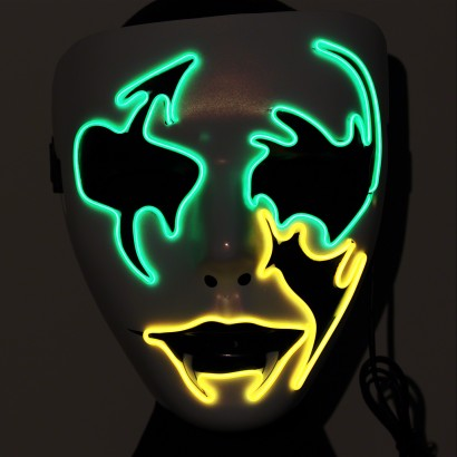 Ladies El Glow Wire Party Masks