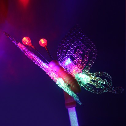 Large Led Butterfly Wand