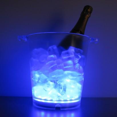 Light Up Blue Led Ice Bucket