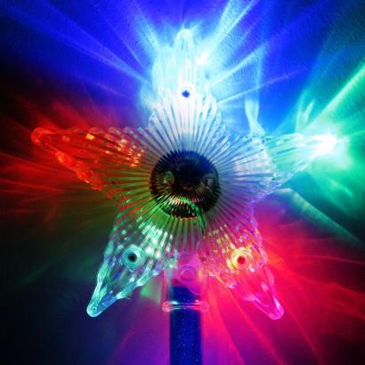 Flashing Star Wand Light Up Novelties Glowsticks Co Uk