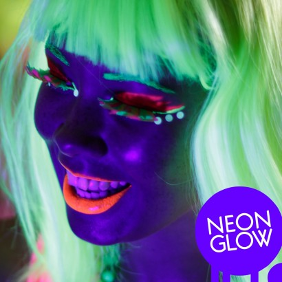 UV Neon Face   Body Paint in an assortment of colours to add some colourful  flourescent glow to your face   body whenever you re under UV light or ... 5097e97a14