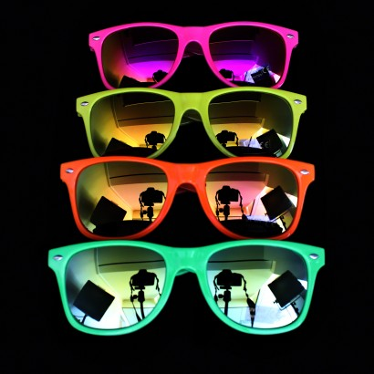 03de626738 Neon Mirrored Party Sunglasses