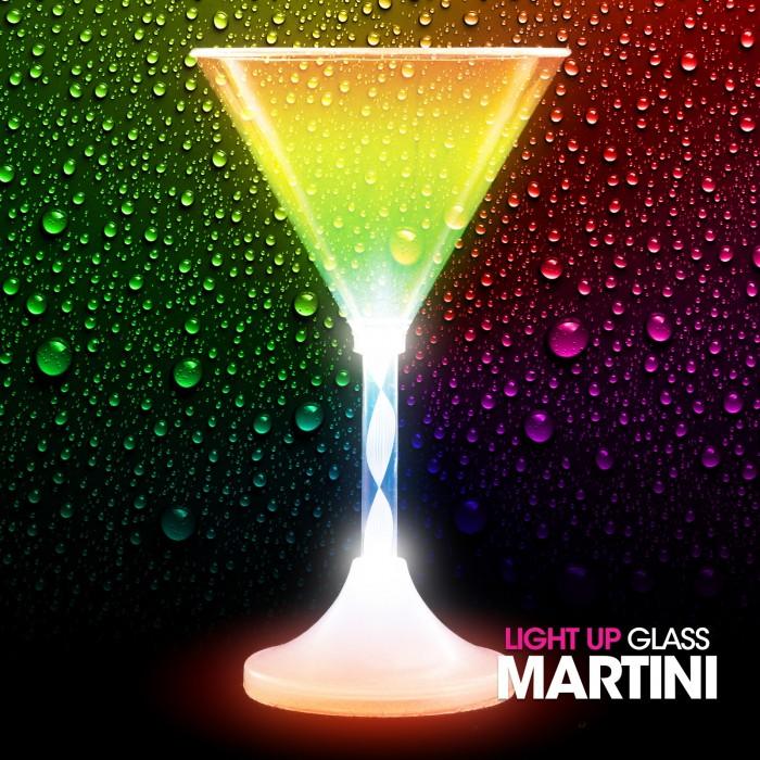 Light Up Martini Glass