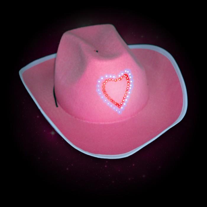 Flashing Pink Cowboy Hats Wholesale