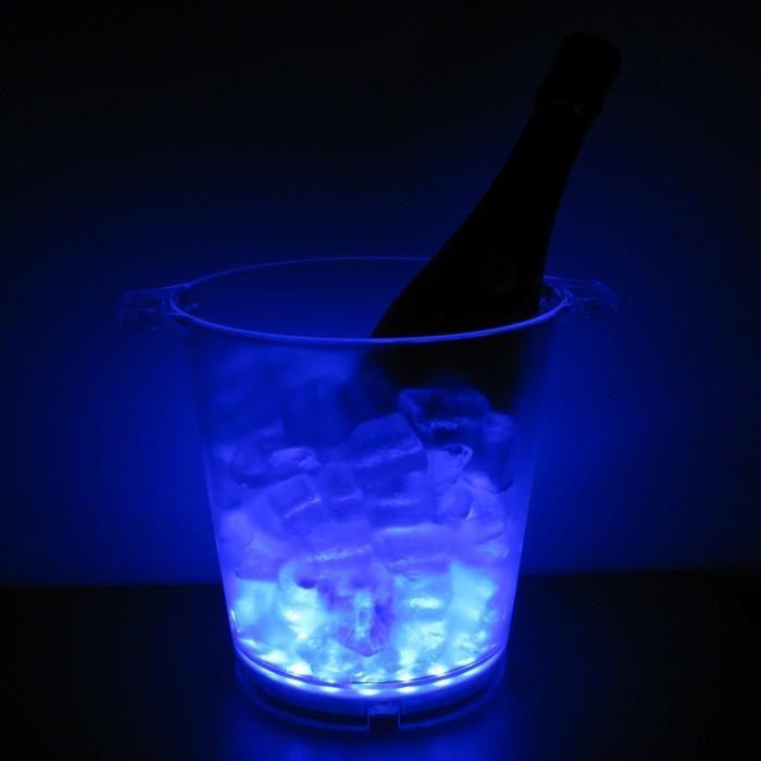 Light Up Ice Bucket Blue - Wholesale