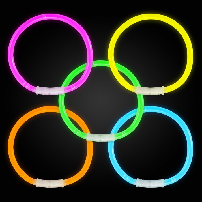 Mixed colour glow bracelets Glow Bracelets