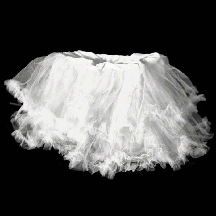White UV Ruffle Tutu