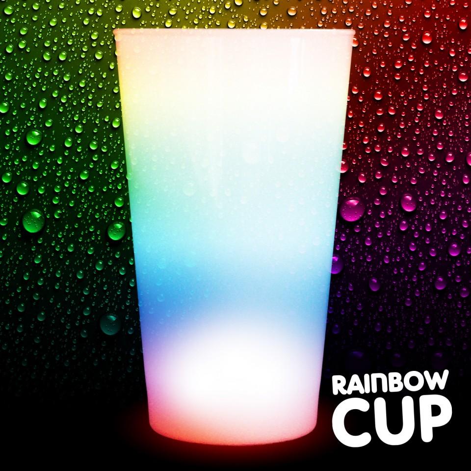 Light Up Rainbow Cups