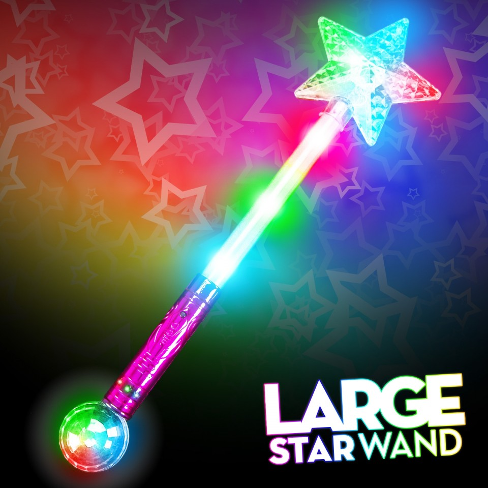Large Flashing Star Wand Wholesale