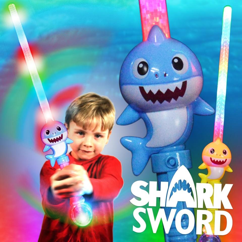 Light Up Baby Shark Sword Wholesale