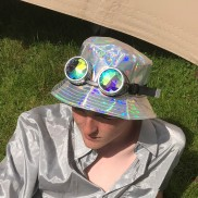 Silver Holographic Hat
