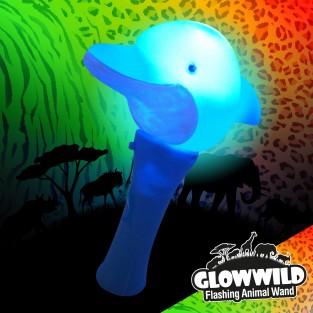 "Dolphin Mini Light Up Animal Wand 7"""