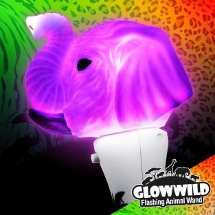 """Elephant Mini Light Up Animal Wand 7"""""""