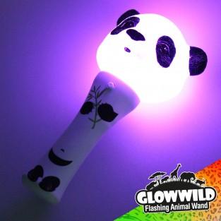 """Panda Mini Light Up Animal Wand 7"""""""