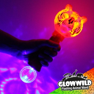 Tiger Mega Light Up Animal Wand 11""