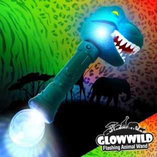 "T-Rex Mega Flashing Animal Wand 11"" Wholesale"