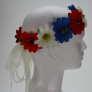 Flower Halo Wholesale 6 red, white and blue halo