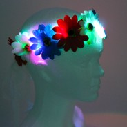 Flower Halo Wholesale 2 red, white and blue halo