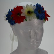 Flower Halo Wholesale 7 red, white and blue halo