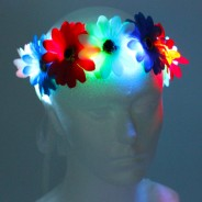 Flower Halo Wholesale 5 red, white and blue halo
