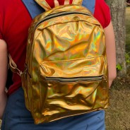 Gold Holographic Back Pack 1