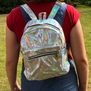 Silver Holographic Back Pack 1