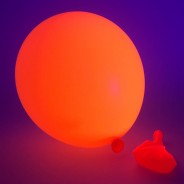 Neon Balloons 6 Orange under UV light