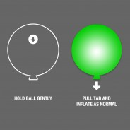 LED Latex Colour Change Balloons x 5 2
