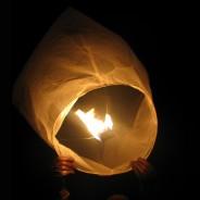 Chinese Flying Lanterns - White (10 Pack) 7
