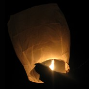 Chinese Flying Lanterns - White (10 Pack) 4