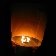Chinese Flying Lanterns - White (10 Pack) 6