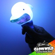 "Dolphin Mini Light Up Animal Wand 7"" 3"