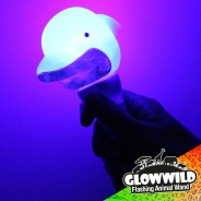 "Dolphin Mini Light Up Animal Wand 7"" 2"