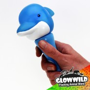 "Dolphin Mini Light Up Animal Wand 7"" 8"