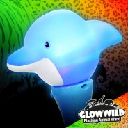 "Dolphin Mini Light Up Animal Wand 7"" 6"